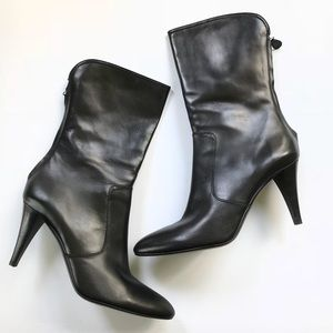 Cole Hann Black Leather heeled Boots